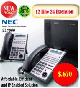 Pabx Nec 12 Line 24 Extension